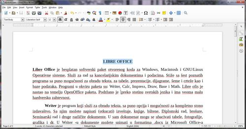 Libre Writer