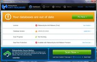 Malwarebytes Anti-Malware - DashBoard