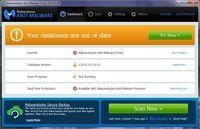 Malwarebytes Anti-Malware - DashBoard