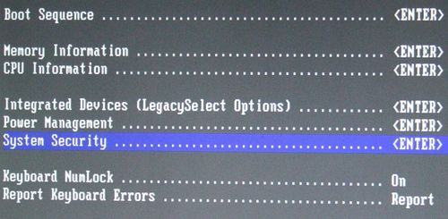 BIOS System Security