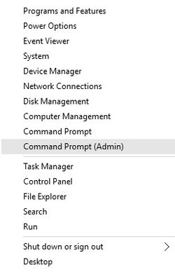 Start - Command Prompt (Admin)