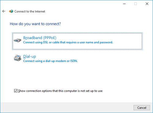 Kako napraviti PPPoE konekciju u Windows -u 10 - Broadband (PPPoE)
