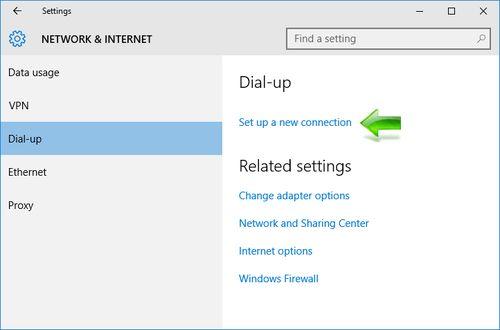 Kako napraviti PPPoE konekciju u Windows -u 10 - Set up a new connection
