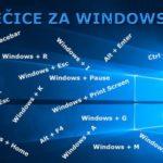 Prečice na tastaturi za Windows 10