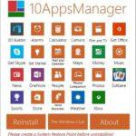 10AppsManager za Windows 10