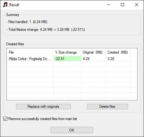 MP3 Quality Modifier - Rezultat