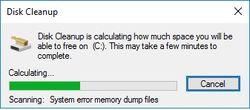 Disk Cleanup Scanning C:/
