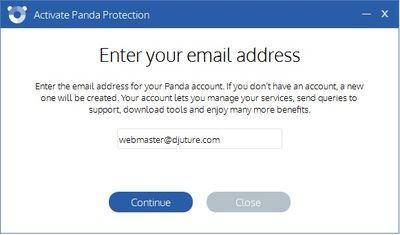 Panda antivirus - e-mail