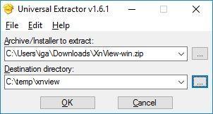 Universal extractor - glavni prozor