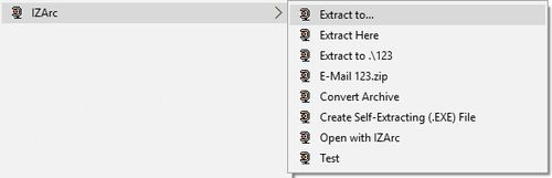 Desni klik Extract