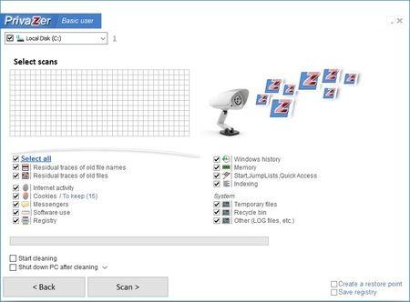 PrivaZer - čišćenje kompjutera & zaštita podataka